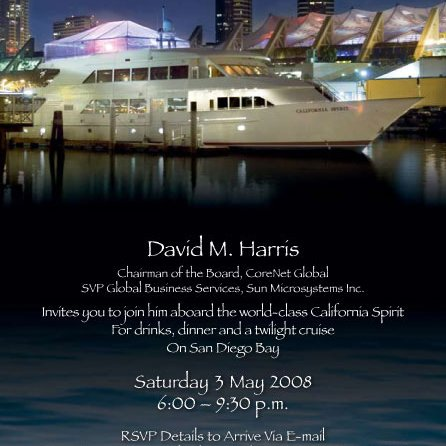 VIP Dinner Cruise Invitation Design